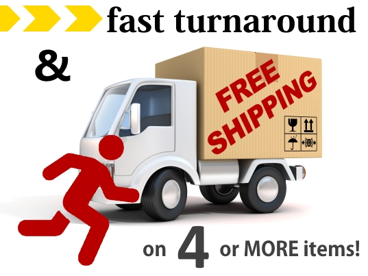 Free Shipping on Four or More Items