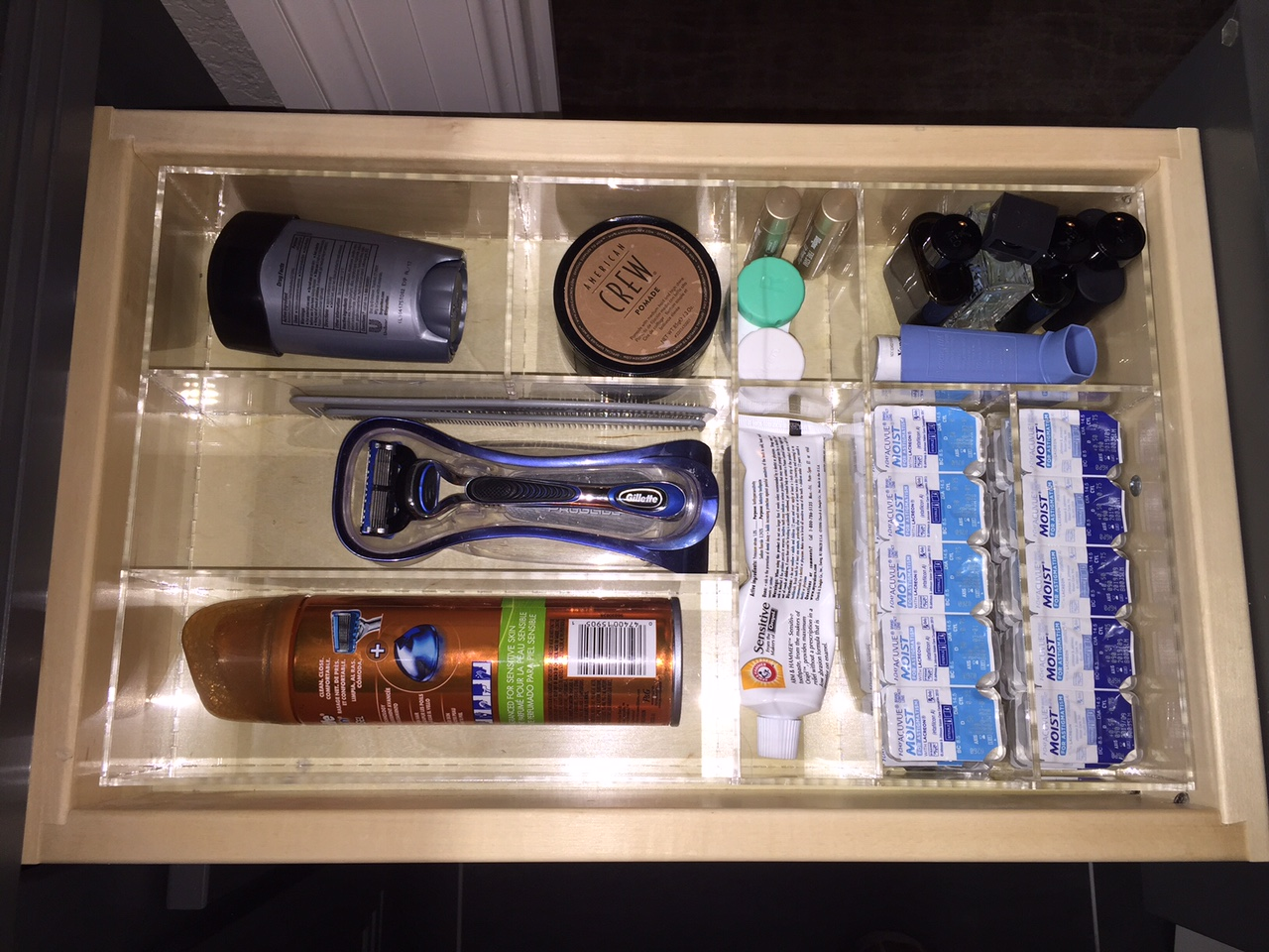 Man Bathroom 2 Drawer Organizer - Custom Acrylic Drawer ...