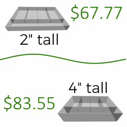 Dynamic Pricing Shorter Wall Height is Cheaper