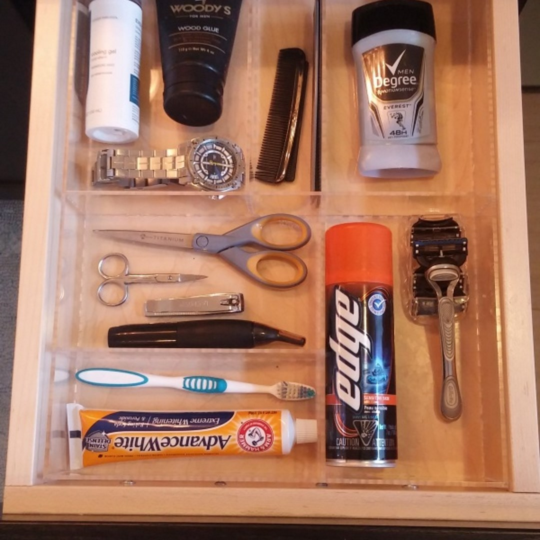 Man Bathroom - Custom Acrylic Drawer Organizers