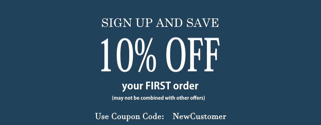 First Order Save 10% New Customer