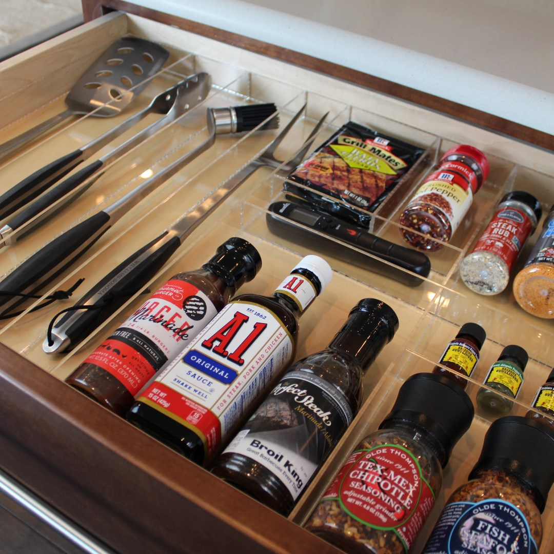 Barbecue Utensils Drawer Organizer Divider Insert