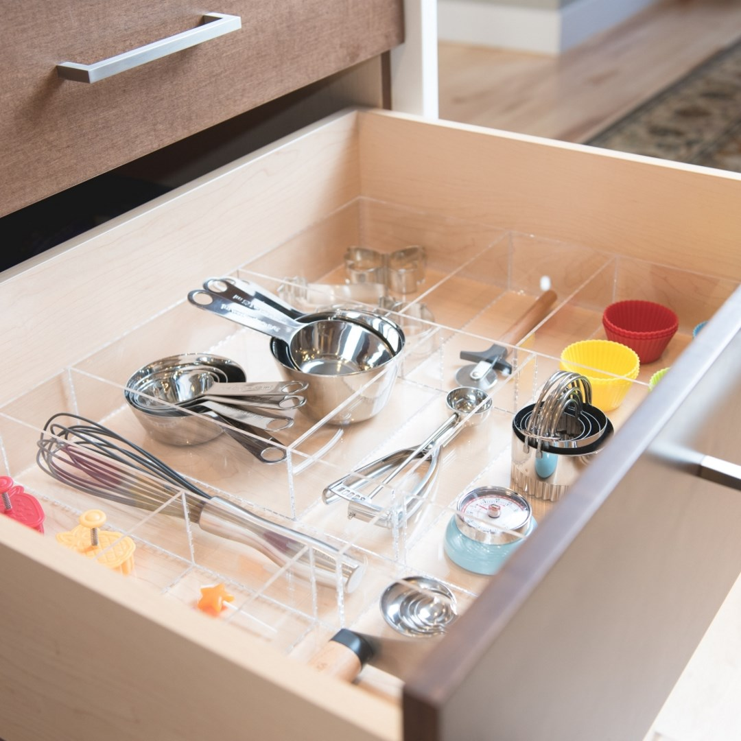 Baking Kitchen Drawer Organizer Divider Insert