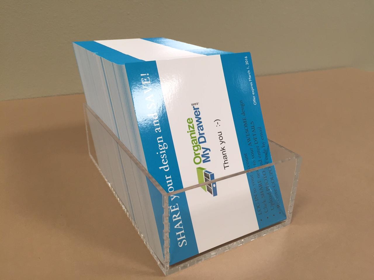 Quarter Page Flyer Holder - vertical - Custom Acrylic Drawer ...