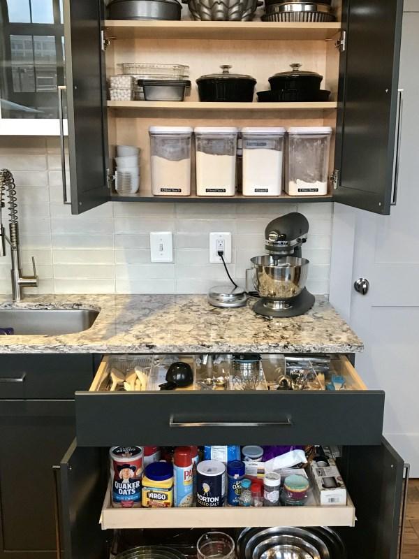 Baking Center Drawer Organizer Divider Insert