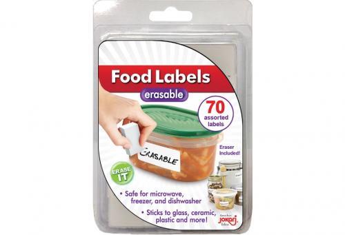 Erasable Food Labels (no marker)