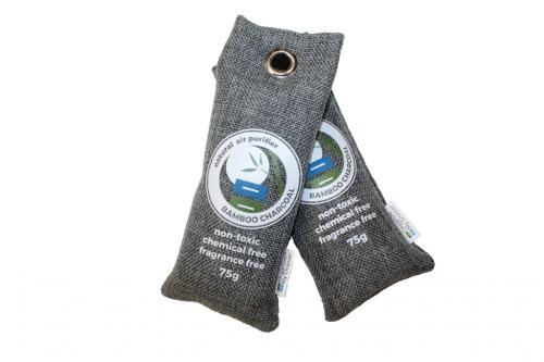 Bamboo Charcoal Air Purifier Bags 75g, 2-Pack