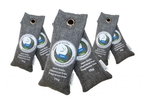 Bamboo Charcoal Air Purifier Bags 75g, 6-Pack