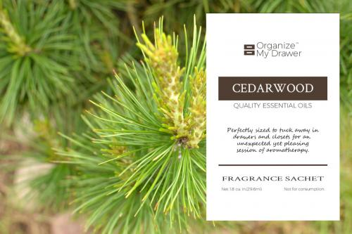 Cedarwood Scented Fragrance Essential Oil Sachet