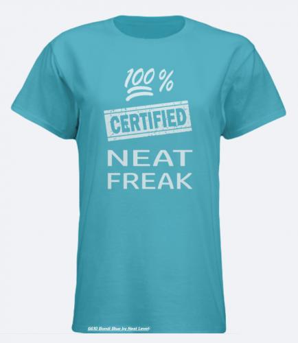 Neat Freak, Ladies T-Shirt, Teal