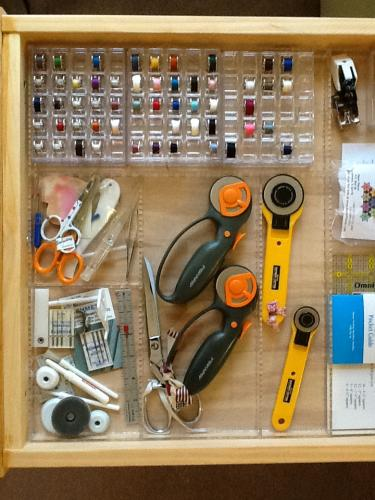 Sewing tools drawer