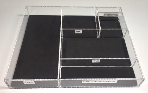 Custom Drawer Divider Liner - Charcoal Cross Linked PE Foam 1/8""
