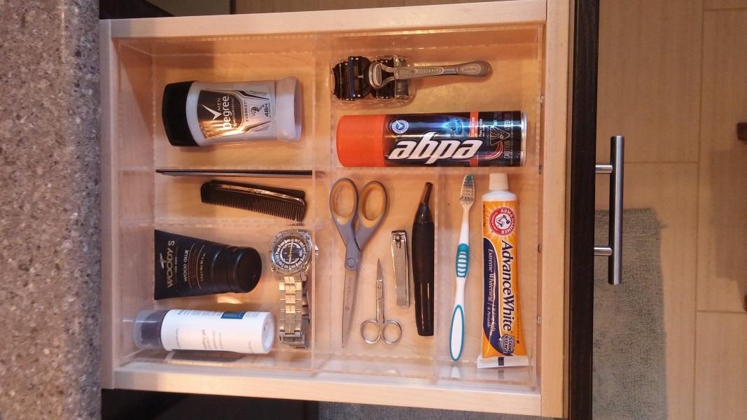Man Bathroom Drawer Organizer | OrganizeMyDrawer.com ...